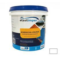 Borracha Líquida Impermeabilizante 3,6kg Elastimper - Branco - Local Vazamentos