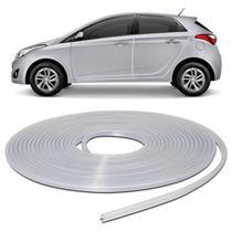 Borracha Protetora Porta Borda de Carro Universal Transparente Incolor 10 Metros em PVC Autoadesiva - Sanfil