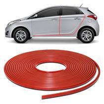 Borracha Protetora Porta Borda de Carro Universal Vermelho 10 Metros em PVC Autoadesiva - Sanfil