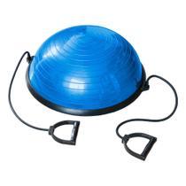 Bosu Ball de Equilíbrio com Alças e Bomba de Encher 58x25cm 09102 - Poker