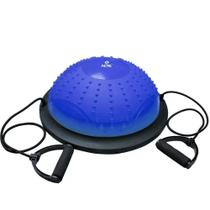 Bosu Dome Acte C/ Bomba e Extensor Azul - T282 - Acte Sports