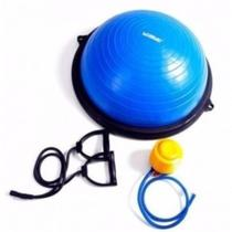 Bosu Meia Bola Suica Balance com Bomba e Alcas Pilates 60cm Liveup - Equilíbrio