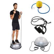 Bosu Meia Bola Suíça Para Funcional Pilates Yoga Fitness com Alças - Mbfit