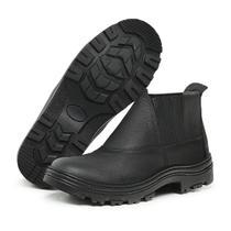 Bota Botina De Segurança Masculina Su Fashion Store IPI C/ Elástico Couro Bico De Pvc Com C.A -