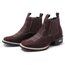 Bota Botina Feminina Texana Pessoni Boots Couro Cano Curto - Pessoni Boots & Shoes