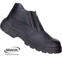Bota Botina Segurança Sapato Bracol Masculino Bico Aço -