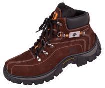 Bota Coturno Adventure em Couro com Palmilha Gel PU - COR MARROM - N 42 - Cf Boots