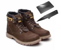 Bota Coturno CAT Marrom + Canivete Original - Caterpillar