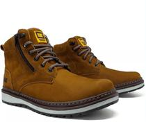 Bota Coturno Caterpillar Masculino Zip One - Cor Caramelo - Spiller shoes