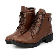 Bota Coturno Feminino BR2 Lady Zíper Lateral Confortável - Br2 Footwear