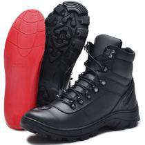 Bota Coturno militar motoqueiro SBL 4092 9300 Em Couro Com Palmilha Em Gel -