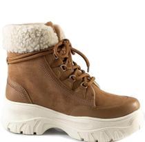 Bota Coturno Ramarim Hiking Boots Feminina Camel 21-86132 -