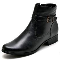 Bota Feminina Em Couro Country Cano Curto JNA Shoes -