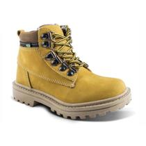 Bota feminina work luma ventura adventure amarela yellow