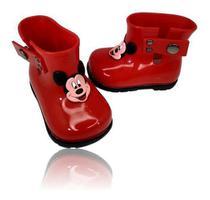 Bota Galocha Borracha Infantil Menina Disney Friends Minnie - Anjo Da Mamãe