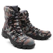 Bota Masculina Militar Torani Motors Camuflada -