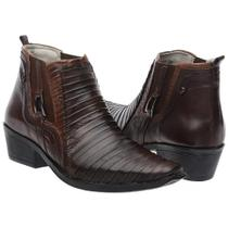 Bota Masculina Texana Country Couro - Nevano