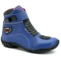 Bota Motociclista Masculina Couro Cano Curto Moderna Macia - Atron Shoes