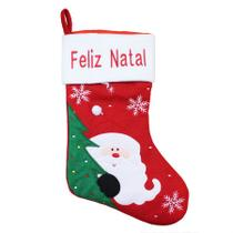 Bota natalina decorada vermelha 46cm - niazitex -