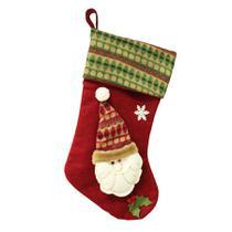 Bota natalina papai noel 50 cm - niazitex -