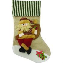 Bota natalina papai noel divertido 50cm - niazitex -