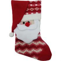 Bota natalina papai noel feliz paris 31,5cm - niazitex -