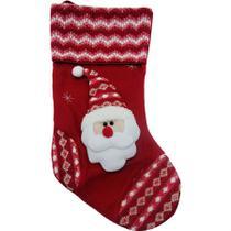Bota natalina papai noel listras paris 50,5cm - niazitex -
