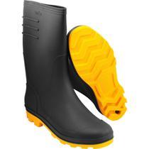 Bota Preta e Amarela PVC Tam. 38 com Forro Vonder -