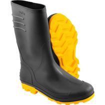 Bota Preta e Amarela PVC Tam. 42 com Forro Vonder -