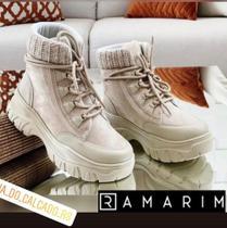 Bota Ramarim 21-86132 Cor Algodão Tam 38 -