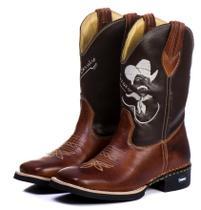 Bota Texana Masculina Bico Quadrado Cano Longo Tião Carreiro - Campero