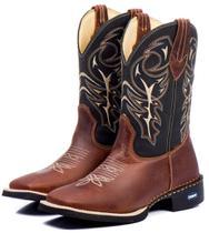 581263f584 Bota Texana Masculina Country 100 Couro Rodeio Montaria - Campero