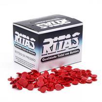 Botão de Pressão Redondo Plástico Ritas 12mm - 200 Unidades -
