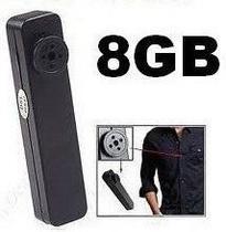 Botão Espião Mini Câmera Escondida Filmadora 8gb Memória - Yes