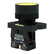 Botão Pulsador Amarelo 1NA Metaltex -