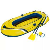 Bote Inflável Amarelo com Remos e Inflador 1,84X0,0,91m MOR -