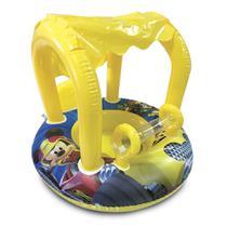 Bote Inflável Infantil com Cobertura e Fralda - Mickey Aventura Sobre Rodas  - Etilux -