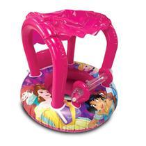 Bote Inflável Infantil com Cobertura e Fralda - Princesas Disney - Etilux -