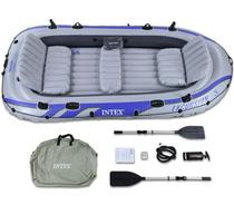 Bote Inflável Intex Excursion 5 C/ Suporte Motor Remos Barco -