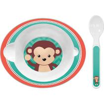 Bowl com Colher Animal Fun - Macaco - Buba