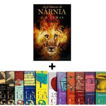 Box 12 Livros C S Lewis Capa Dura Coleção Completa Especial + Livro As Crônicas de Nárnia  Volume Único  C. S. Lewis - Livro Cristão