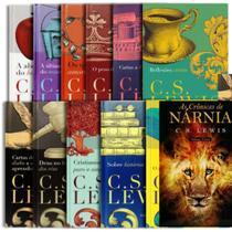 Box 13 Livros  C. S. Lewis  Capa Dura  Coleção Completa + Livro As Crônicas de Nárnia  Volume Único  C. S. Lewis - Livro Cristão