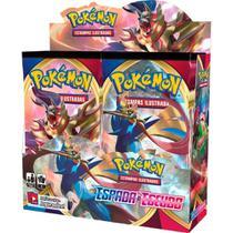 Box 36 Booster Cards Pokémon Espada e Escudo Sword Shield - Copag