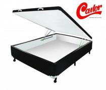 Box Castor Baú Universal Casal Padrão 138x188x41cm - Marrom -