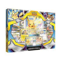 Box Jogo De Cartas Pokemon Coleção Especial Pikachu E Eevee Copag -