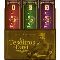 Box Os Tesouros De Davi - Charles Spurgeon - Cpad 3 Volumes -