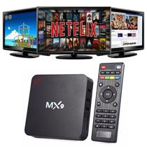 Box transforma em Smart TV Mx9 6.0 Quadcore Android 4k Smart Media Player