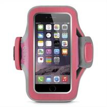 Braçadeira Belkin Slim-fit Neoprene iPhone 6/6S Rosa e Cinza -