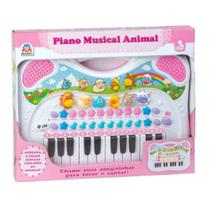 Braskit piano musical animal rosa 6408 -