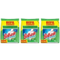 Brilhante Antibacteriano Tira Manchas Refil 420g (Kit C/03) -